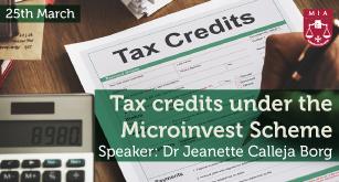 Tax credits under the Microinvest Scheme