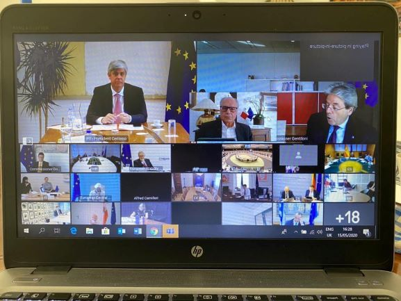 Finance Minister participates in the Eurogroup meeting to continue progressing to an agreed EU wide response to the Economic and Financial Covid-19 challenge
