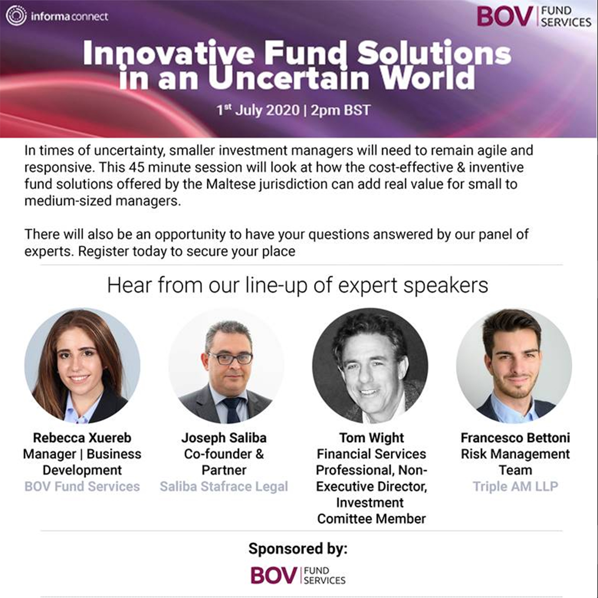 Innovative Fund Solutions in an Uncertain World