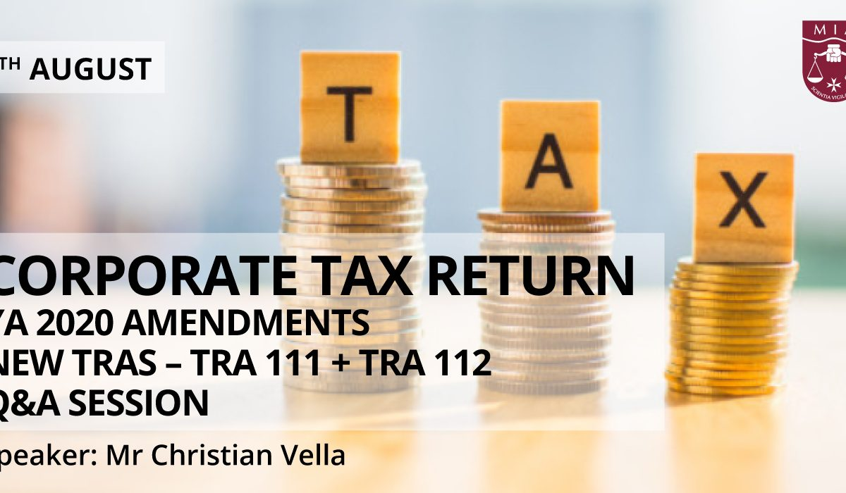 Tax return YA 2020 (New TRAs – TRA 111 and TRA 112) – Q&A session