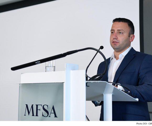 Parliamentary Secretary for Financial Services and Digital Economy Clayton Bartolo launches the MFSA FinTech Regulatory Sandbox