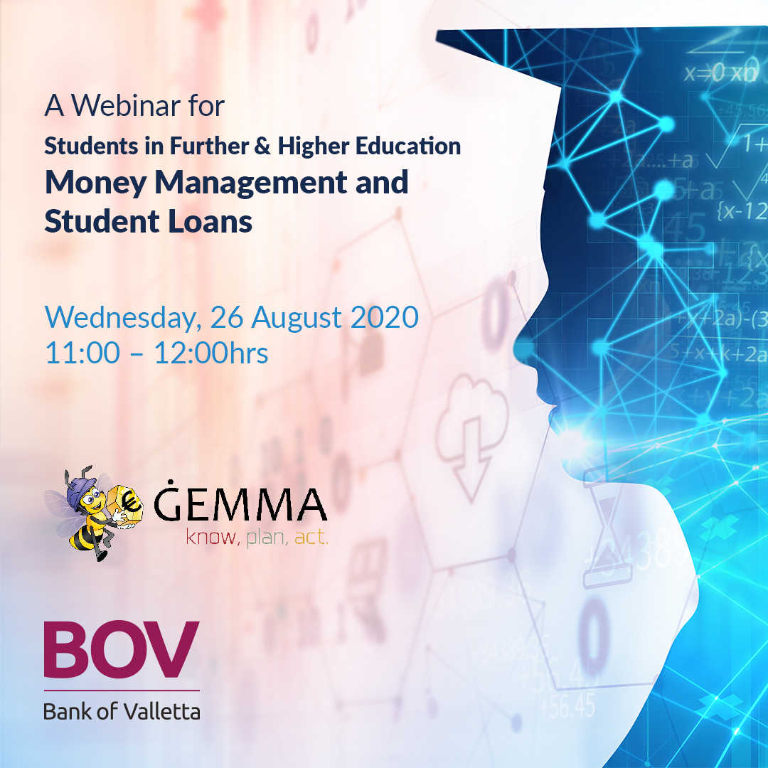 A ĠEMMA and BOV Webinar for Students in Further and Higher Education