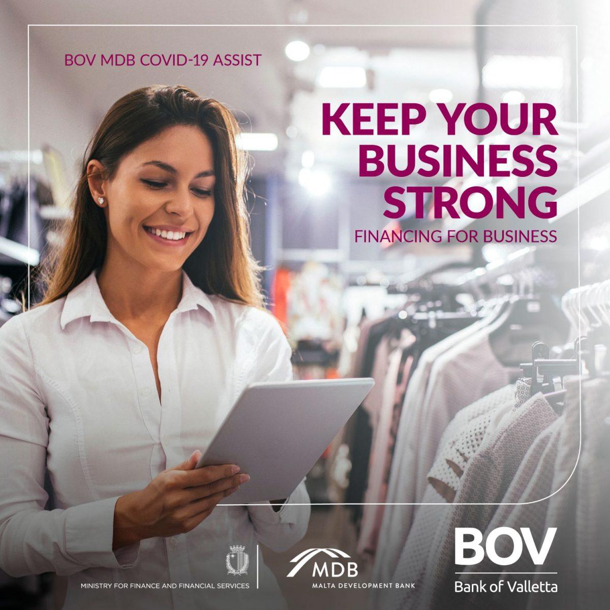 €192 million financing to businesses through the BOV-MDB COVID Assist