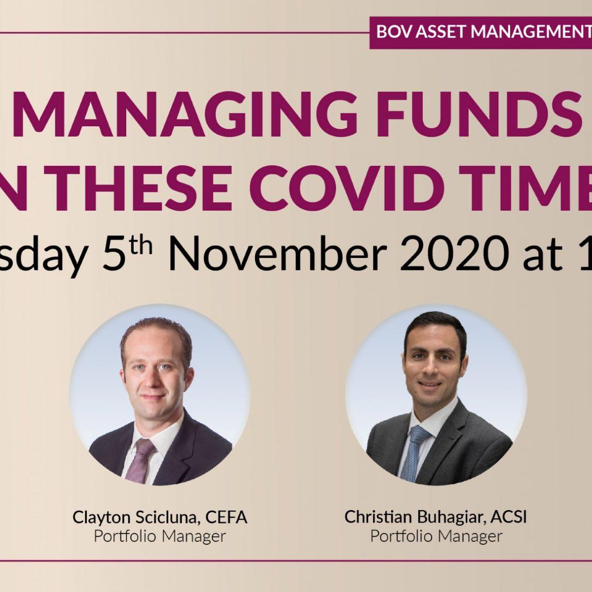 More free BOV COVID-19 Webinars in November