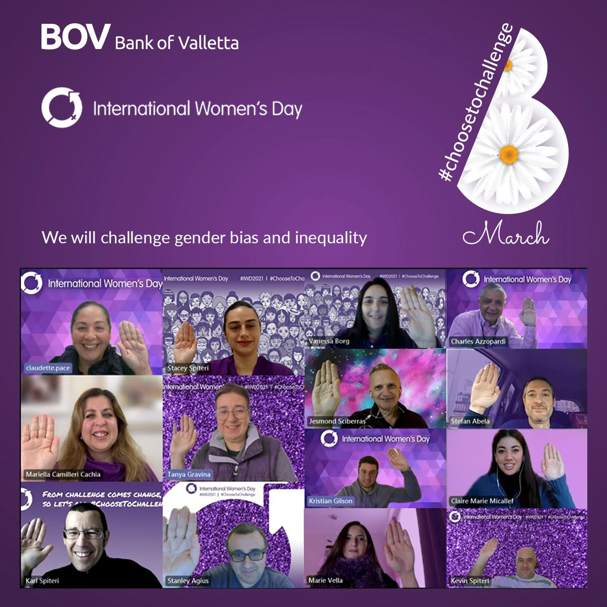 BOV staff challenge inequality and gender bias