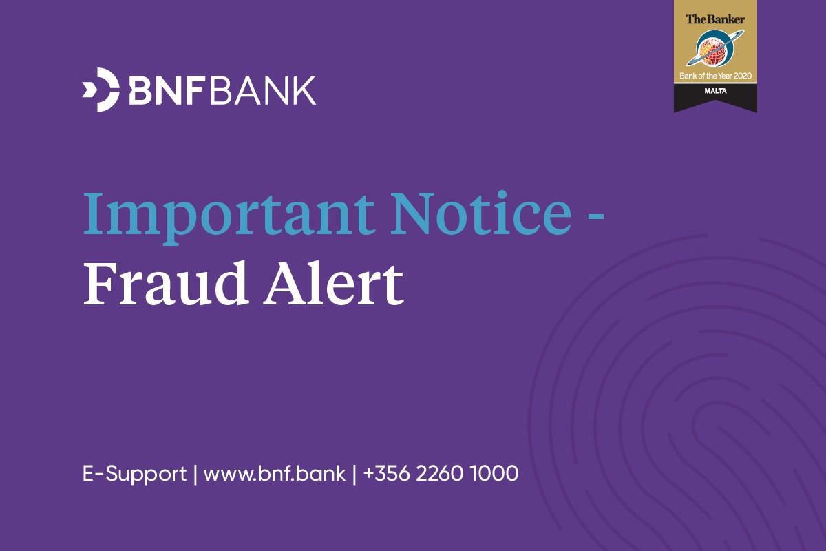 BNF Bank warns on Scam alert