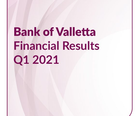 Bank of Valletta announces performance for the first three months of 2021