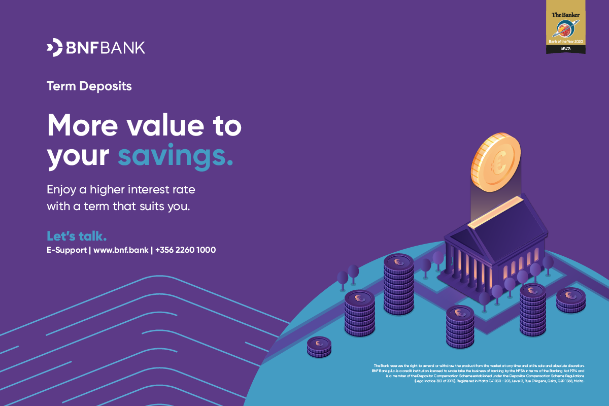 Open a term deposit with BNF Bank and enjoy higher interest rates