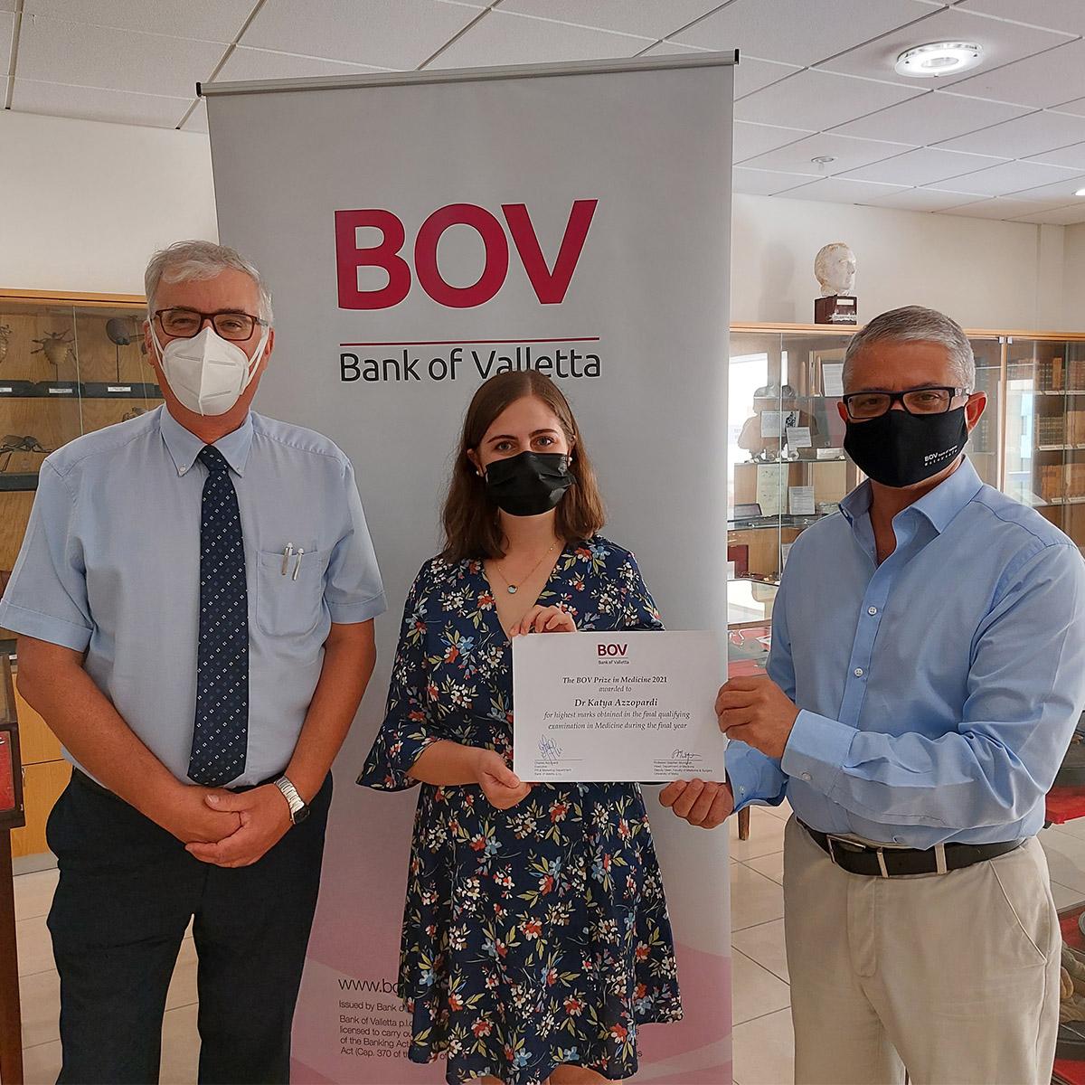 Dr Katya Azzopardi wins the BOV Prize in Medicine for 2021